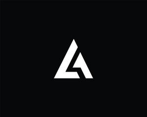 Minimalist Letter A LA Logo Design , Editable in Vector Format in Black and White Color