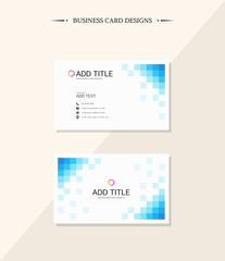 Simple business card with geometric design
