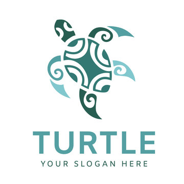 Turtle logo graphic design concept. Editable sea turtle element, can be used as logotype, icon, template in web and print