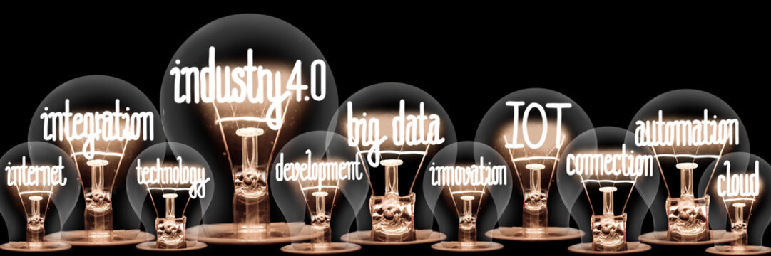 Light Bulbs with Industry 4.0 Concept