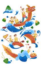 Door stickers Rainbow Dragon Boat Race, Dragon Boat Festival, Dragon Boat Festival, Dragon Boat, Customs, Folklore, Dragon Boat Competition, Customs, Culture, Boating, Sports, Tradition, Dragon Boat Festival, Zongzi, Baozi