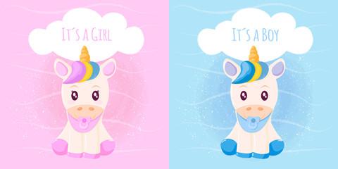 Cute unicorn it´s a girl it´s a boy