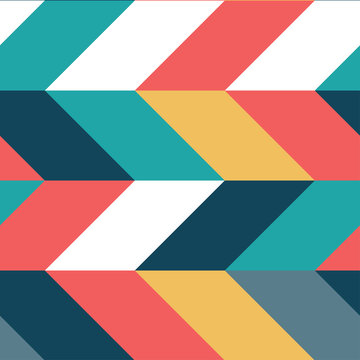 Abstract colorful parallelogram seamless pattern