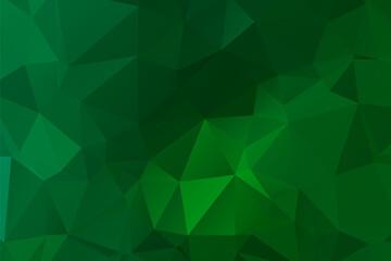 Abstract multicolor emerald green background. Vector polygonal design illustrator Wall mural