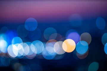 Light night bokeh city blur. Abstract background
