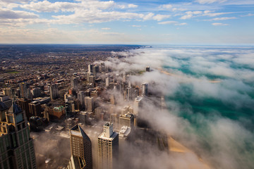 Stores photo Chicago Clouds over Chicago, Windy city