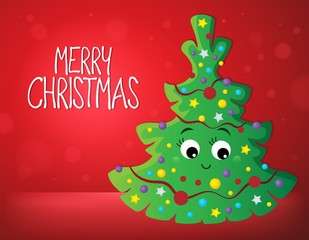 Deurstickers Voor kinderen Merry Christmas composition image 1