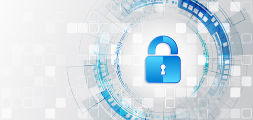Data and confidentiality. Internet protection online concept. Padlock icon and internet technology networking connection. Global network security mechanism.