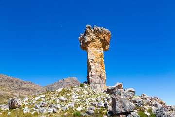The rock formation Maltese Cross - a popular hiking destination in the Cederberg, South Africa