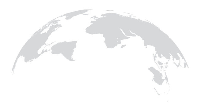 World map globe on white background .Vector graphic in flat style.