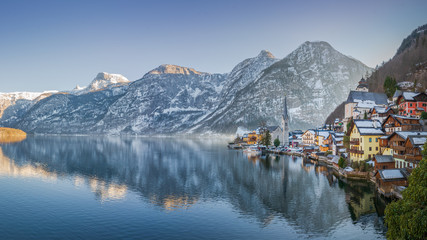 Foto op Canvas Alpen Hallstatt is the old town