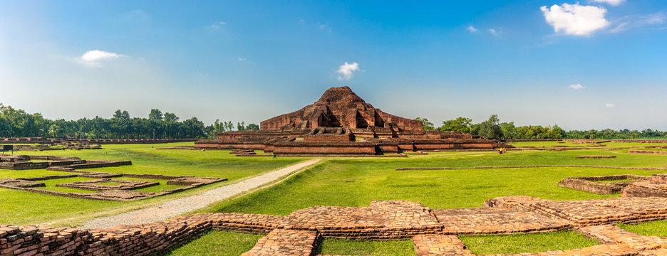 Panoramic view at the Ancient ruins of Monastery Somapura Mahavihara in Paharapur - Bangladesh