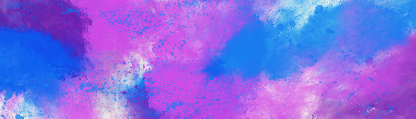 Abstract image of exploded colorful powder, digital illustration