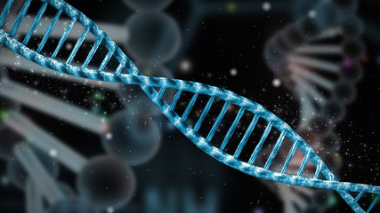 double stranded DNA helix, genetics research background illustration