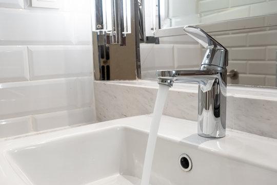 tap or faucet in bathroom