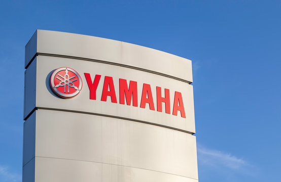 Toronto, Canada - June 01, 2018: Sign of Yamaha Motor Canada at head office in Toronto. Yamaha Motor Company Limited is a Japanese manufacturer of motorcycles, marine products.