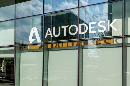 Sign of Autodesk Canada office in Toronto, July 02, 2018. Autodesk is an American  software corporation makes software for the architecture, engineering, construction, manufacturing, etc.
