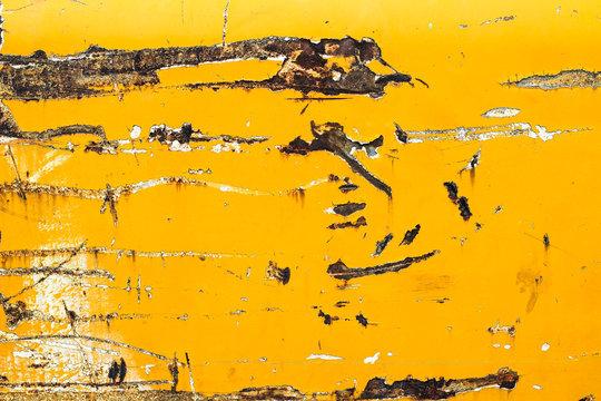 Rusty Yellow Metal Texture