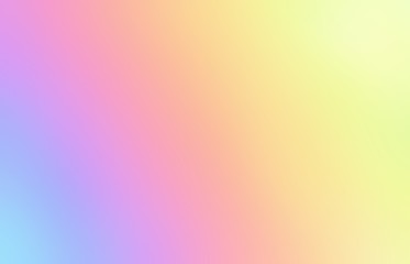 Spectral defocus illustration. Rainbow blurred abstract pattern. Iridescent yellow pink blue empty background.