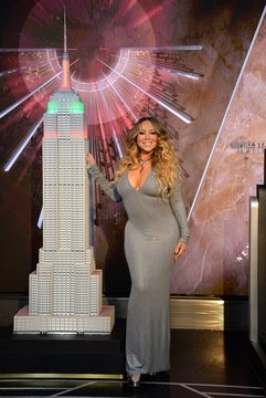 Mariah Carey at a public appearance for Mariah Carey Lights The Empire State Building In Celebration Of The 25th Anniversary of ALL I WANT FOR CHRISTMAS IS YOU