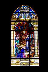 Auray. Vitrail de l'église Saint-Gildas. Morbihan. Bretagne