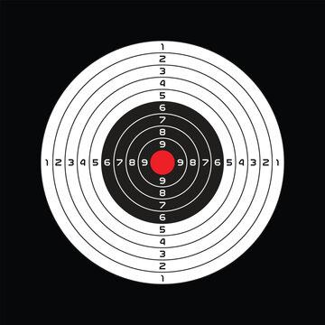 Shooting range target design, vector