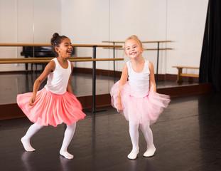 Portrait of two little ballerinas