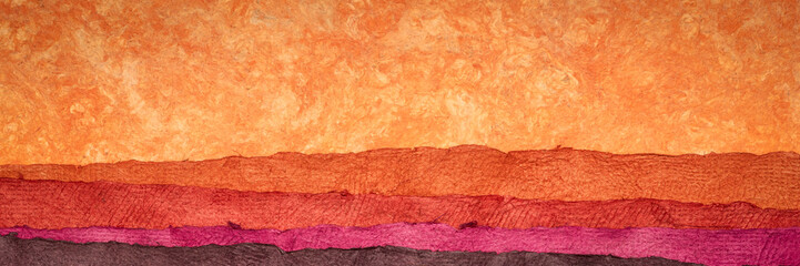 In de dag Baksteen abstract landscape - colorful textured paper sheets