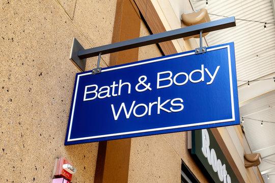 Body & Body works store sign on September 10, 2019 in Niagara Falls, Ontario, Canada.