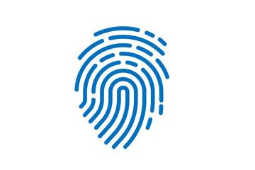 fingerprint icon vector