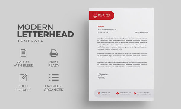 Simple Professional Letterhead Template | Modern Creative Letterhead Design