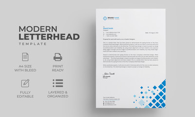 Letterhead Template   Editable Letterhead Design