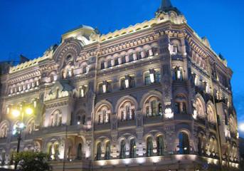 Fototapeta palace in evening lights