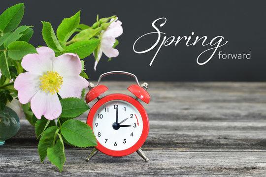 Spring forward. Summer time change.