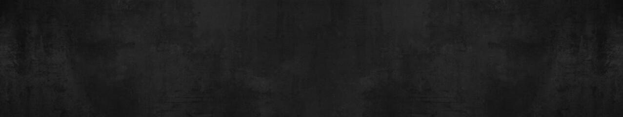 Foto op Aluminium Betonbehang black stone concrete texture background anthracite panorama banner long