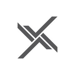 abstract leter xk geometric line logo vector