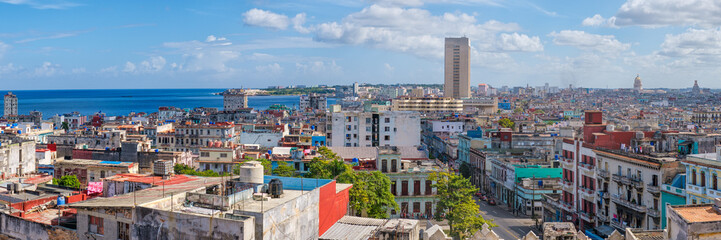 Papiers peints La Havane High resolution panoramic view of Havana