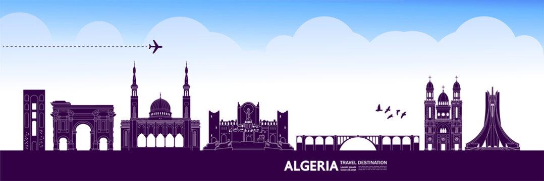Algeria travel destination grand vector illustration.
