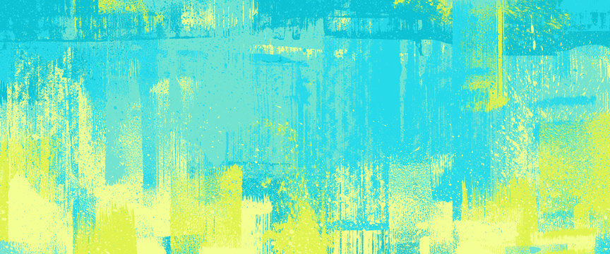 brush stroke texture, turquoise color