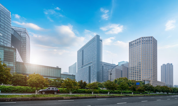 Hangzhou Financial District Plaza Modern Architecture Office Building