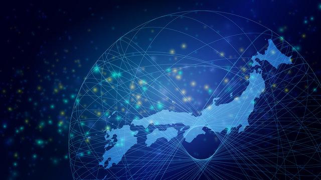 サイバーデジタル日本の光イメージ背景