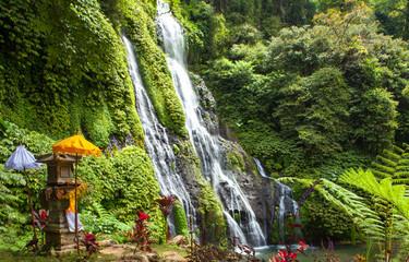 scenic view of banyumala waterfall in bali indonesia Wall mural