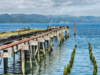 Fishing Pier On The Columbia River