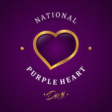 Luxury design purple heart appreciation day background