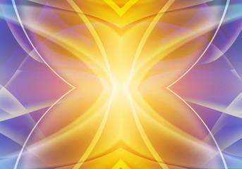 Colored artistic futuristic light art