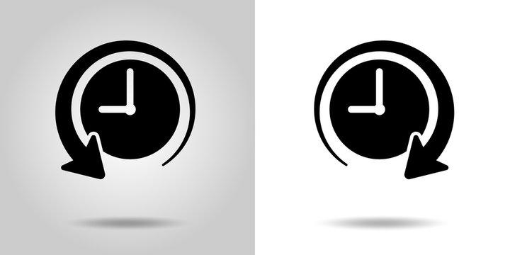 時間の過去・未来 アイコンセット