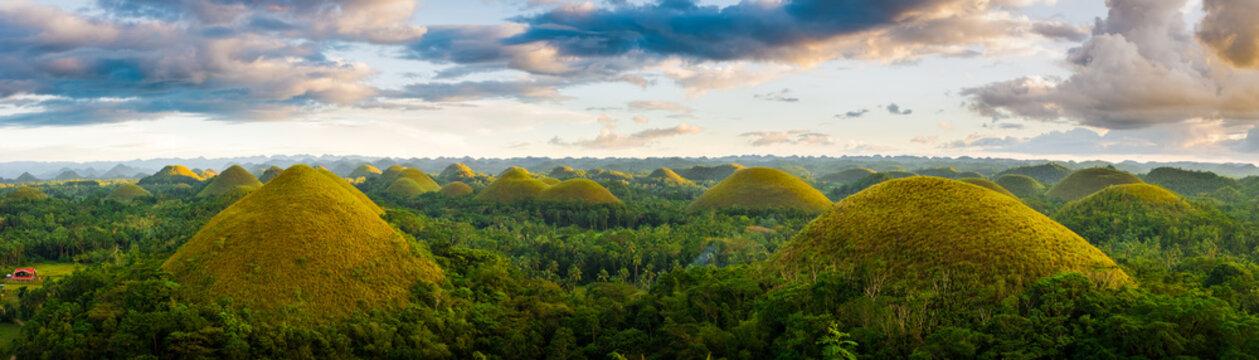 Bohol chocolate hills panorama