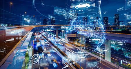 交通とテクノロジー Fotomurales
