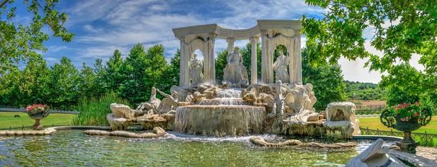 Large antique fountain in the castle of Ravadinovo, Bulgaria