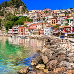 Coloful beautiful town Parga - perfect getaway in Ionian coast of Greece